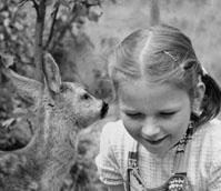 Foto: Anneliese und das Reh